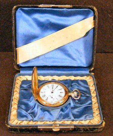 American Waltham gold filled pocket watch, running,