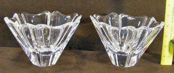 "11L: Two Orrefors crystal bowls, 4.5"" high, excellent c"