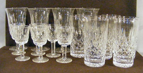 13L: Lot of Waterford crystal Lismore pattern pieces in
