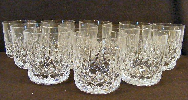 14L: Lot of twelve Waterford crystal Lismore tumblers,