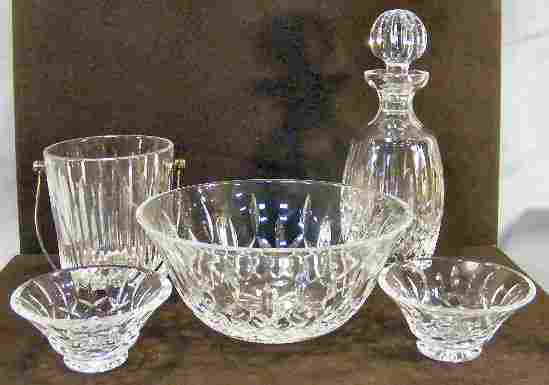 """Lot of Waterford crystal including ice bucket, 9"""""""