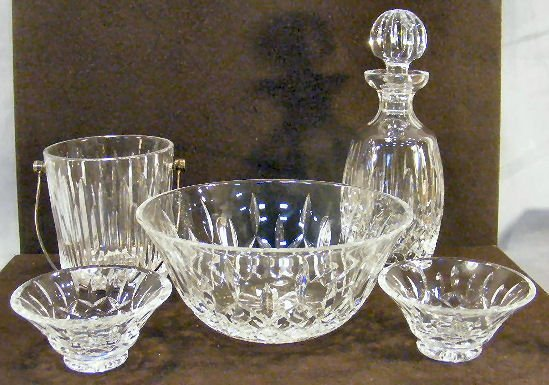 """15L: Lot of Waterford crystal including ice bucket, 9"""""""