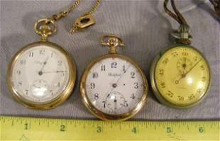 Two pocket watches, Rockford and Elgin both second