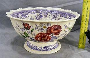 Copeland Spode Mayflower large footed center bowl,