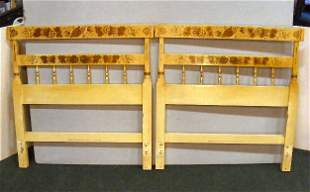 """Pair of Hitchcock headboards, 40"""" wide, 41"""" high"""