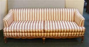 "Upholstered sofa, 83"" long, 29"" high, 32"" deep, li"