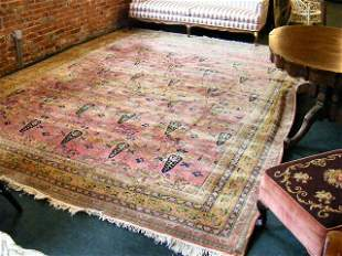 "Estate oriental rug, 126"" X 165"", furniture leg s"