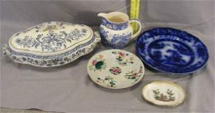 Lot of misc. china including Hong Kong flow blue p
