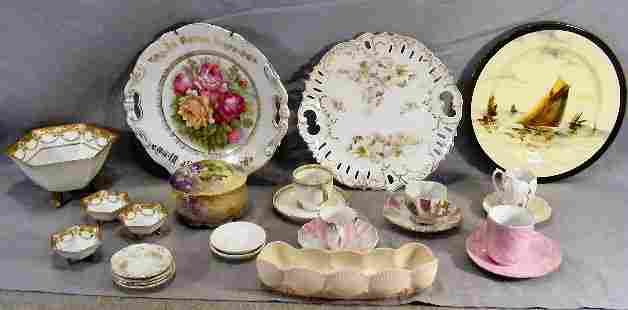 Lot of misc. china including Belleek shell dish,
