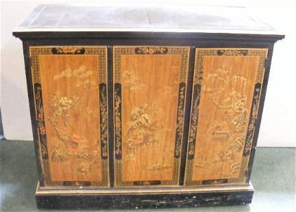 Estate Drexel oriental styled cabinet, one wheel