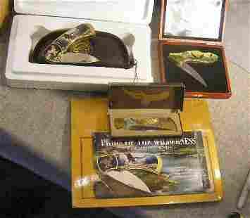 Lot of three collector pocket knives including Fr