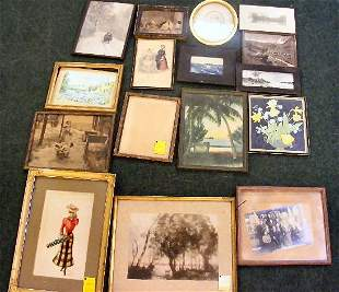 Lot including several prints and photographs