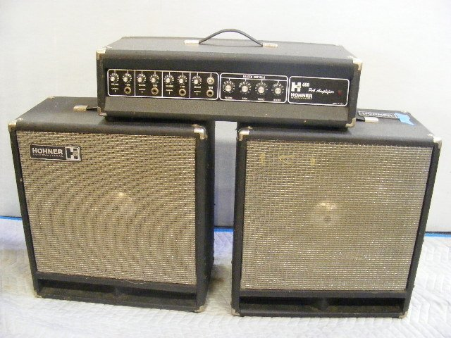hohner 460 pa amplifier with speakers