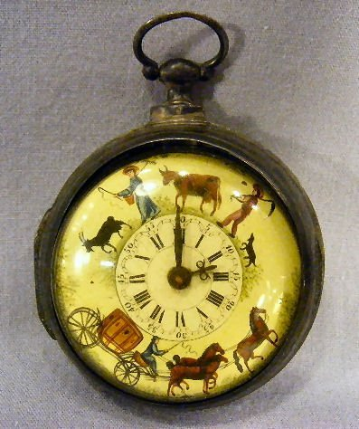 188B: Early Samson London verge fusee pocket watch, cas