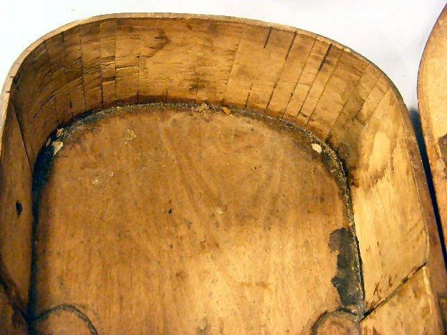 "242Z: Antique wood violin case with bone hardware, 32""  - 8"
