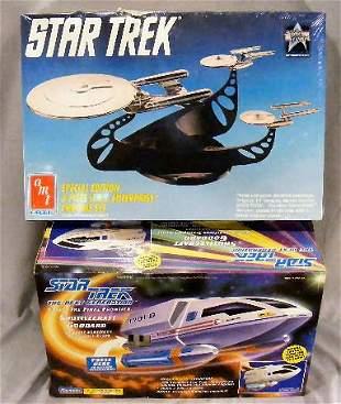 2pcs. Star Trek Enterprise model (amt #6005, damage