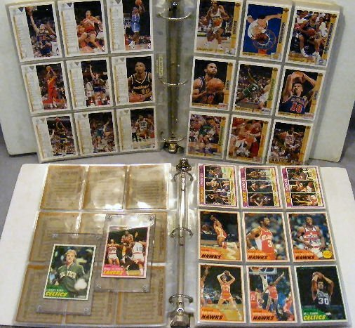 10G: 2 albums. 1981 Topps Basketball cards including La