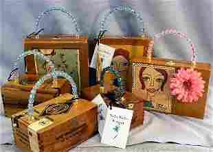 Cigar box purses by Katie Bisbee Designs, creative