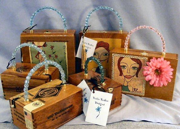 13L: Cigar box purses by Katie Bisbee Designs, creative