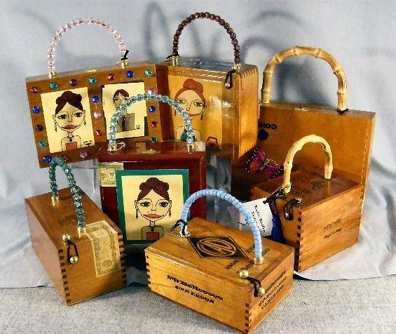 15L: Cigar box purses by Katie Bisbee Designs, creative