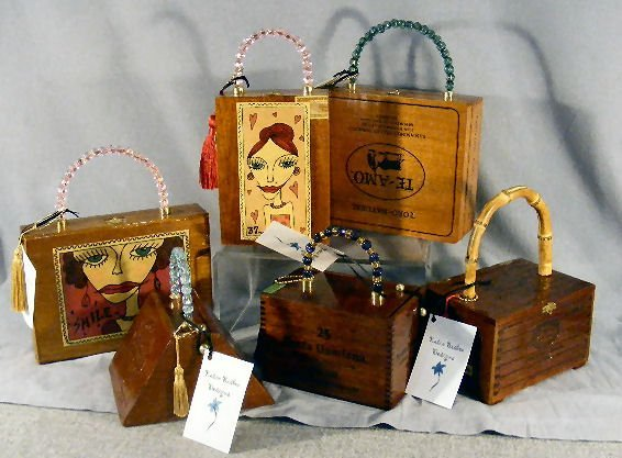 16L: Cigar box purses by Katie Bisbee Designs, creative