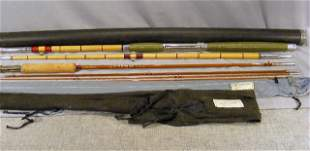 "2pcs. Vintage Moosehead 8'.5"" split bamboo fishing"