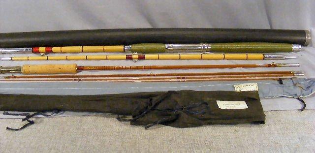 "19B: 2pcs. Vintage Moosehead 8'.5"" split bamboo fishing"
