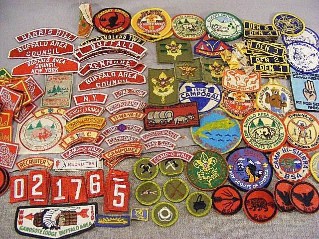 24D: Vintage 1950's - 60's Boy Scout patches. Albacore