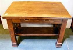 169L Arts  crafts mission oak library table 44 X 28