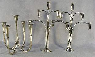"""WMF five light silverplated candelabra 11.25"""" and p"""
