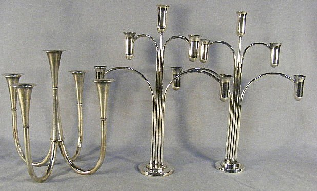 "5A: WMF five light silverplated candelabra 11.25"" and p"