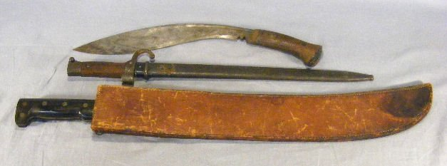 13E: Lot including Collins & Co. WWII machete dated 194