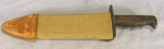 "14E: WWI Bolo knife marked ""U.S. Mod. 1917 C.T."" and ""P"