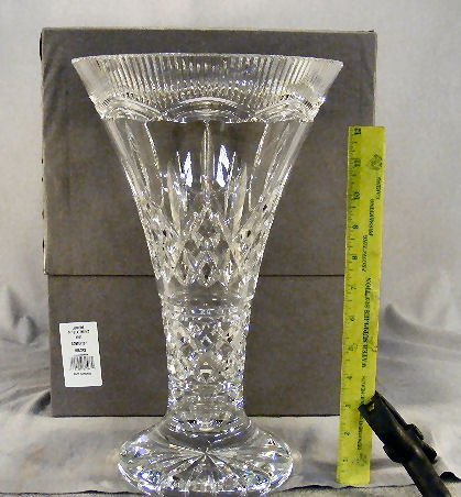 "24D: Large Waterford crystal Lismore 14"" Statement vase"