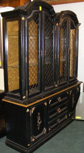 latest w black painted double china cabinet uquotuquot high uamp lot w with painted  china hutch.