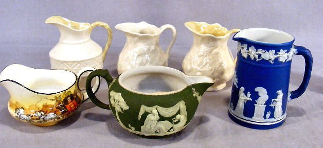 10D: Lot of cream jugs including two Wedgwood England j