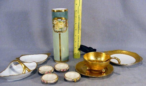 11D: Misc. lot of porcelain including four Willets Bell