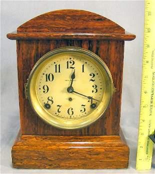 "Seth Thomas Adamantine clock, 11"" high, condition"