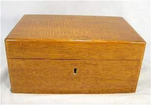 Dunhill mahogany cigar humidor, light scratches