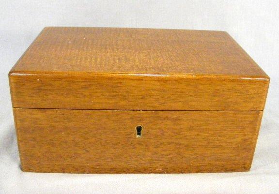 18B: Dunhill mahogany cigar humidor, light scratches