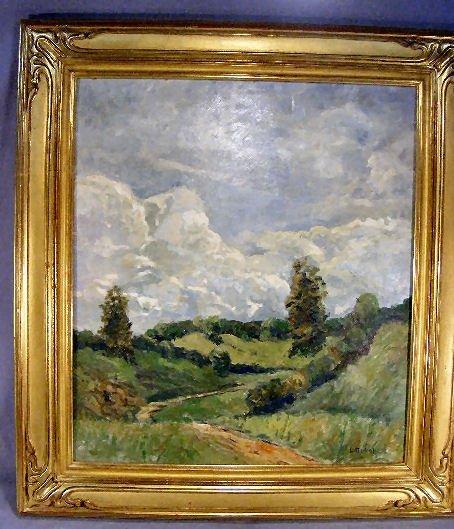 115Z: William Langston Lathrop (1859-1938) oil painting