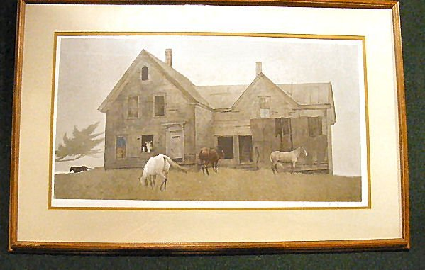 158Z: Andrew Wyeth pencil signed print, Open House