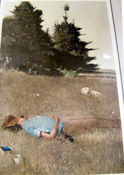 159Z: Andrew Wyeth pencil signed print, Distant Thunder - 2