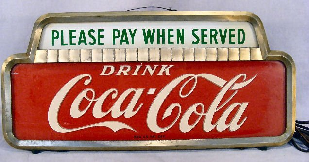 "3A: Electric Coca Cola sign, 19"" X 9"", working"
