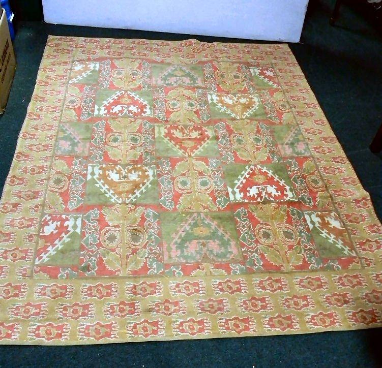 """13A: Italian Collezione-Tappeti rug, 5'8"""" X 7'2"""", light"""