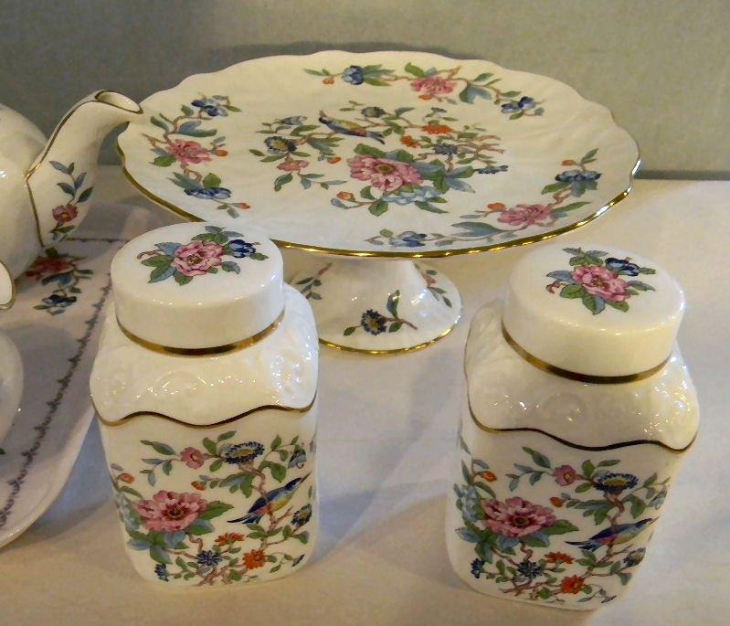 83K: Aynsley Pembroke bone china teapot, coffee pot, cr - 3