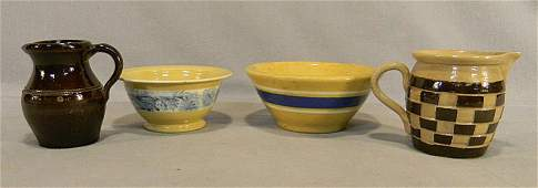159E Lot of stoneware including miniature yellow ware