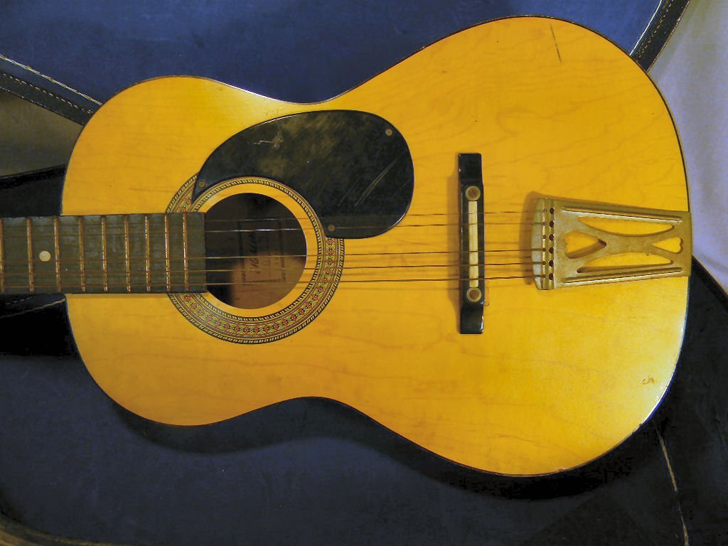 265B: Acoustic guitar, made in Korea, model G-100, one  - 2