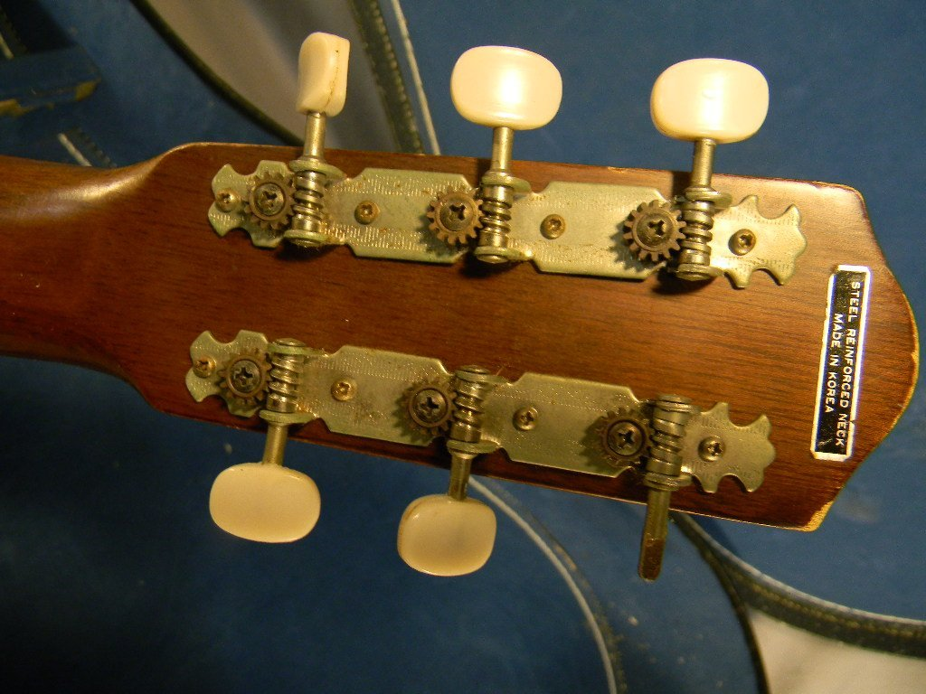 265B: Acoustic guitar, made in Korea, model G-100, one  - 4