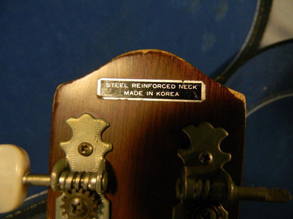 265B: Acoustic guitar, made in Korea, model G-100, one  - 5